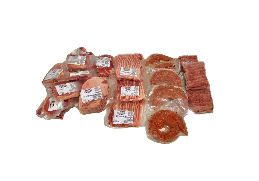 Quarter pork quarter pig share 25 pounds bulk premium all natural pork - Farmers to Families