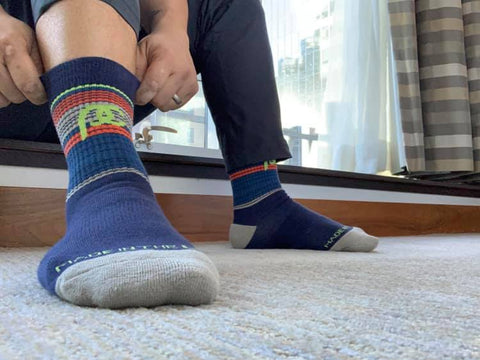 How long to wear compression socks depends on the type of activity or medical condition.
