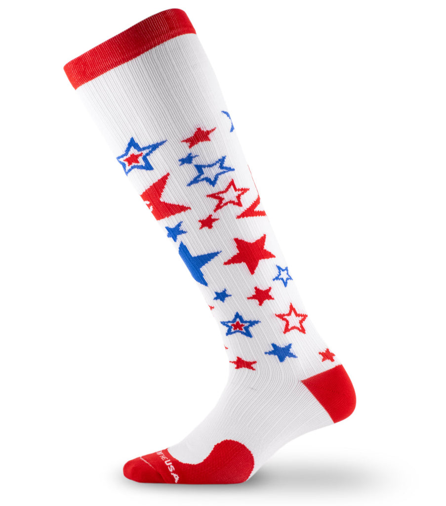 PRO Compression Graduated Compression Sock - Marathon, Fourth of July 2020