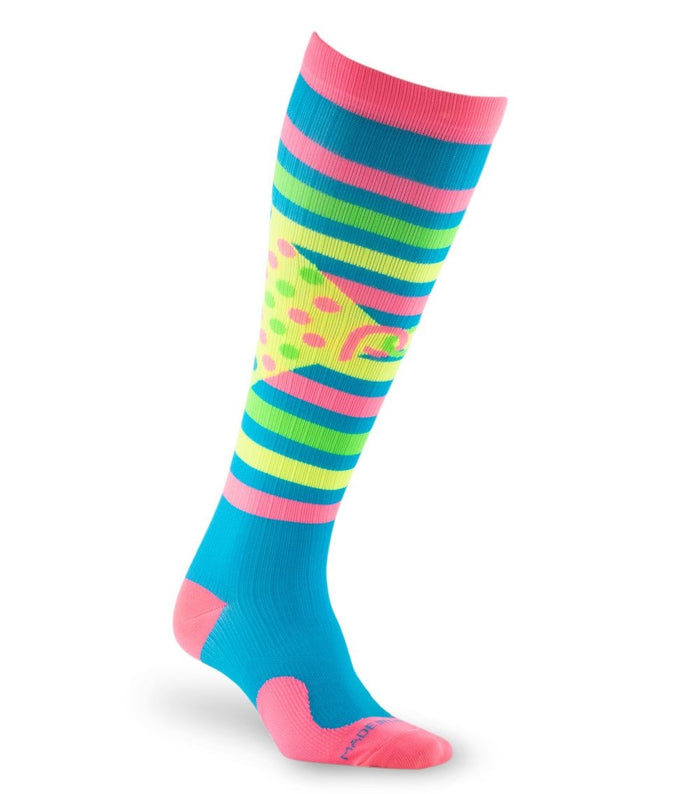 PRO Compression Graduated Compression Sock - Marathon, Birthday Splash