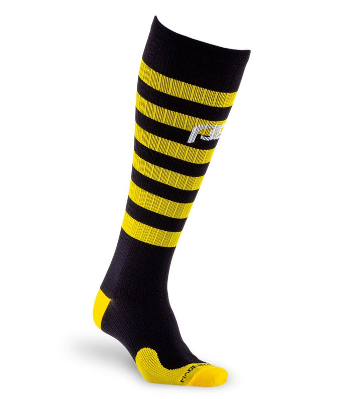 PRO Compression | Knee-high Graduated Compression Socks | Marathon, Black and Yellow