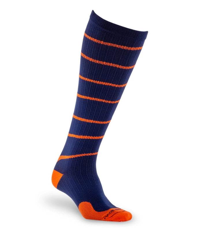 PRO Compression | Graduated Compression Socks | Marathon, Blue with Orange Swirl