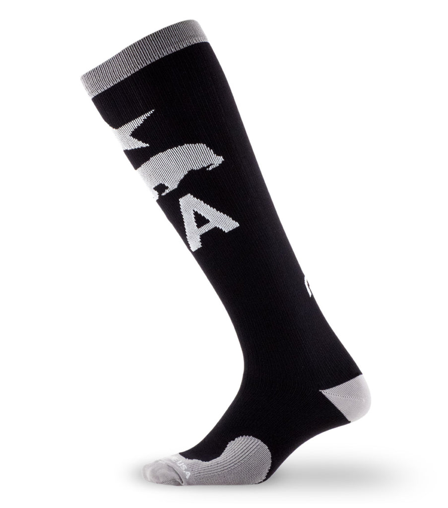 PRO Compression Graduated Compression Sock - Marathon, California Black