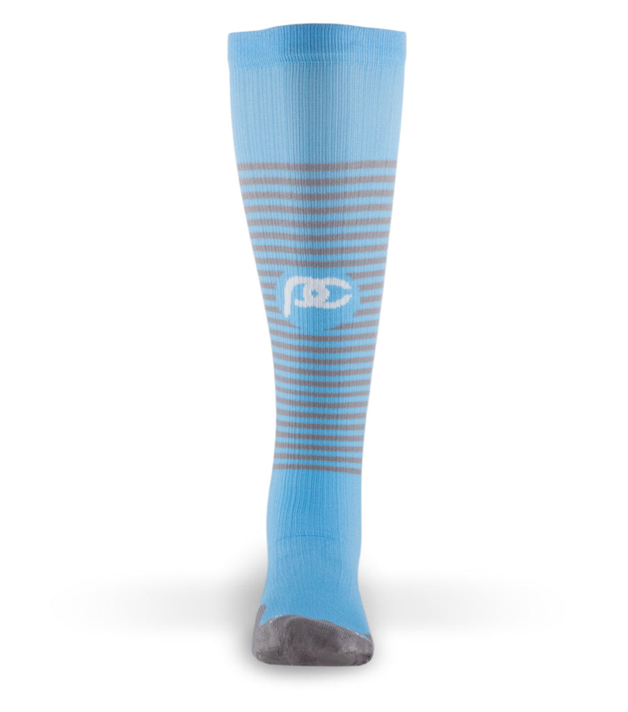 PRO Compression Graduated Compression Sock - Marathon, Carolina Stripe