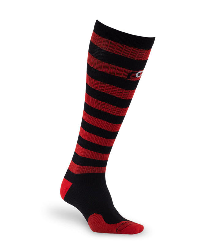 PRO Compression Graduated Compression Sock - Marathon, Red and Black