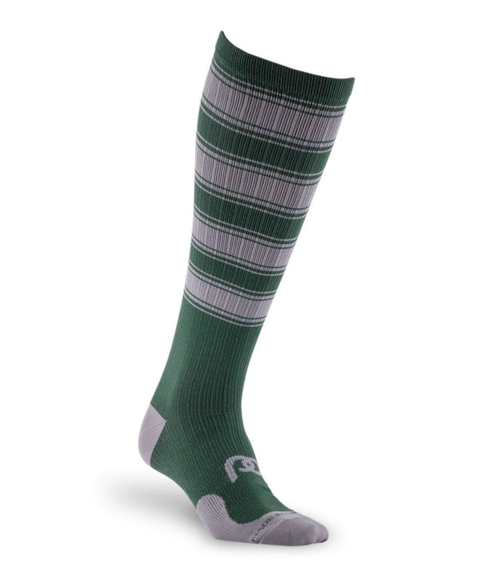 PRO Compression Graduated Compression Sock - Marathon, Green and Grey