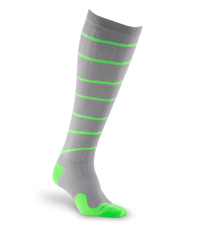 PRO Compression | Graduated Compression Socks | Marathon, Grey with Green Swirl