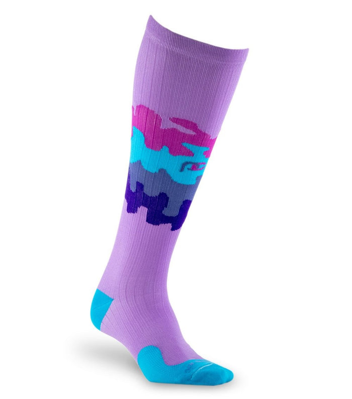 PRO Compression Graduated Compression Sock - Marathon, Jigsaw Purple Rain