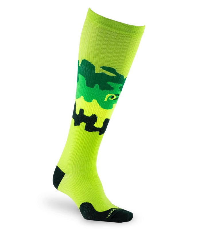 PRO Compression Graduated Compression Sock - Marathon, Jigsaw Limey