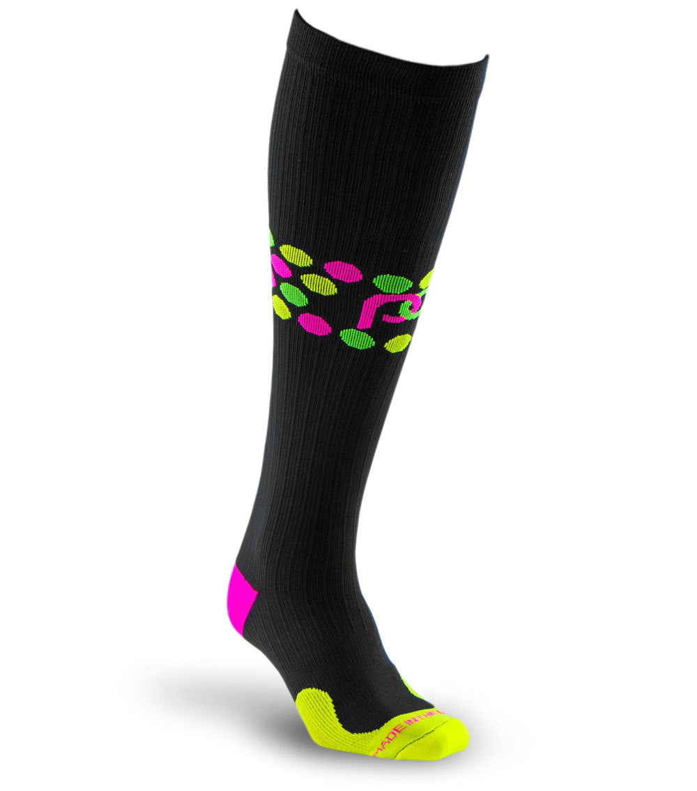 Marathon, Black with Neon Dots