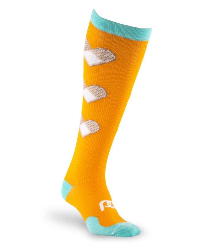 PRO Compression Graduated Compression Sock - Marathon, Orange Bandage Hearts