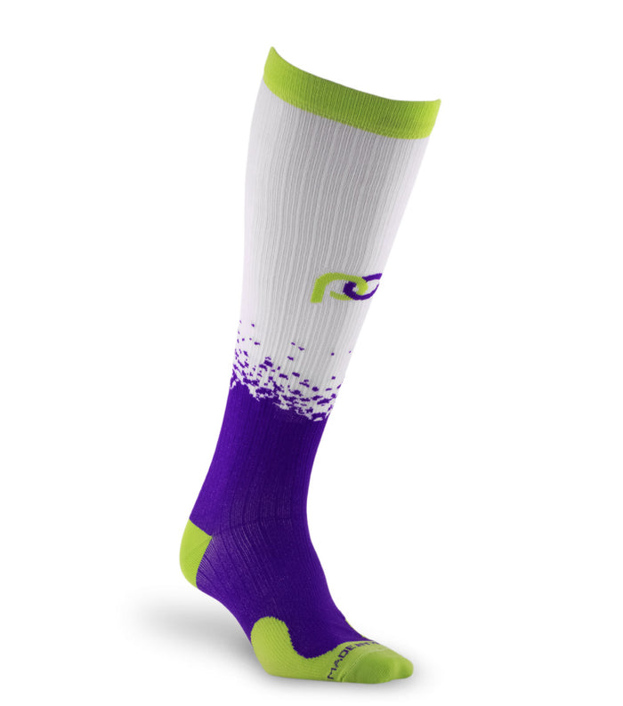 PRO Compression Graduated Compression Sock - Marathon, Purple Splash