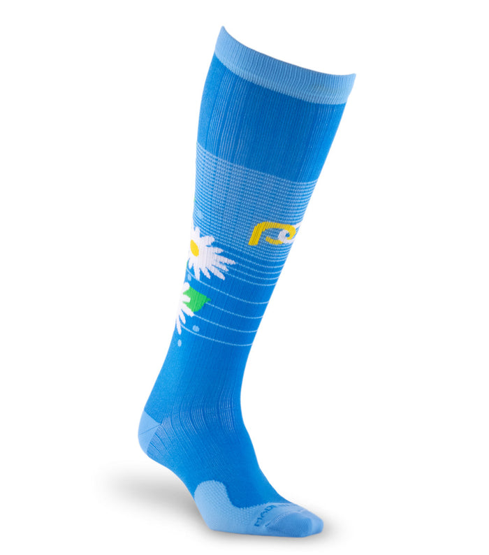 PRO Compression Graduated Compression Sock - Marathon, Spring Flowers