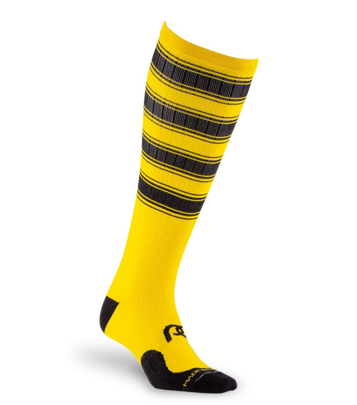 PRO Compression Graduated Compression Sock - Marathon, Yellow and Black