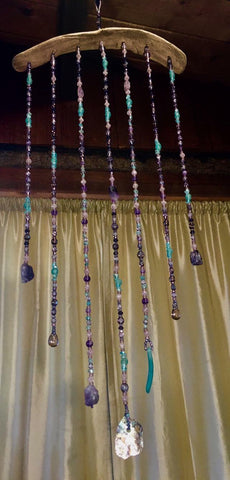 Julie's' Amethyst Abalone beaded curtain