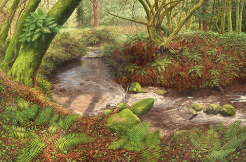 A Big Sur Stream-Giclée on Canvas