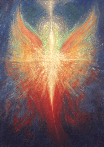Card, Angel of Light, By Edmund Moody