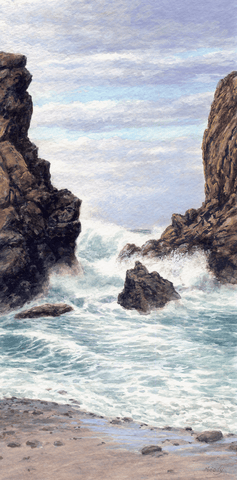 Between the Rocks - Giclée on Canvas