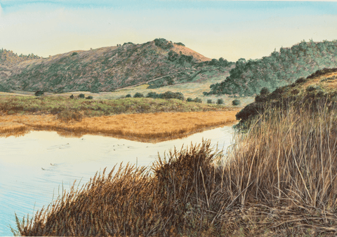 Carmel Lagoon-Giclee on paper