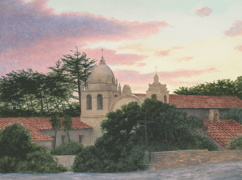 Card, Carmel Mission, By Edmund Moody