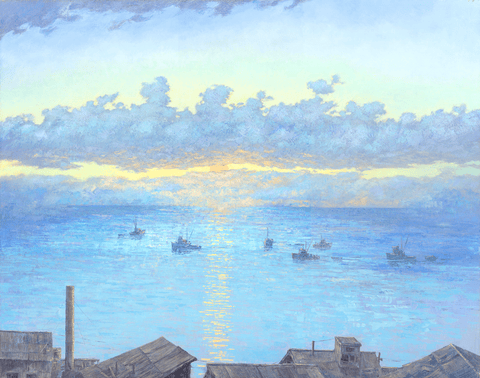 Fishing Boats-Giclée on Canvas