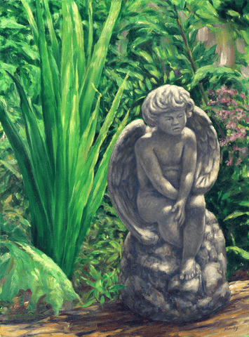 Garden Angel - Giclee on Canvas