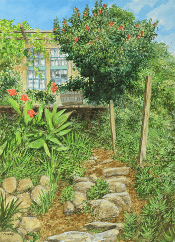 Garden Path-Giclee on Paper