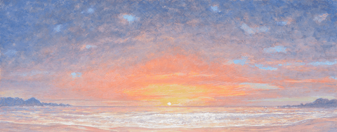 Golden Sea Sunset-Giclee on Paper