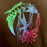Hummingbird Magic on Slate Grey 70% Bamboo/ 30% Organic Cotton Tee
