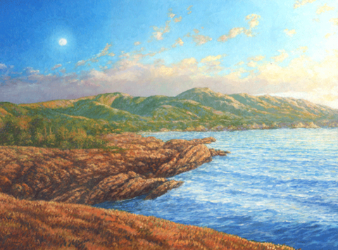 Moon Rise Giclée Print on Canvas - wholesale