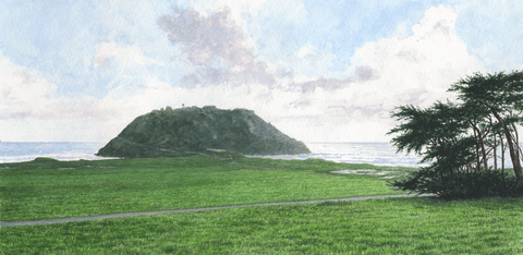 Point Sur Green-Giclee on Paper