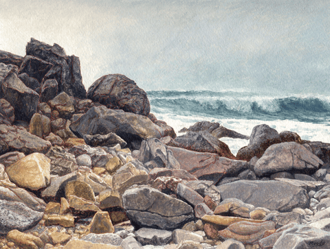Rocks at Pfeiffer Point-Giclee on Paper