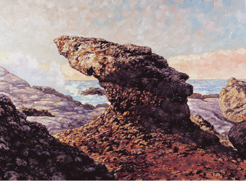 Rocks at Point Lobos-Giclée on Canvas