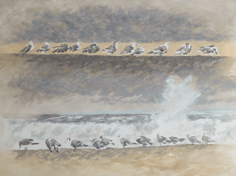 Sea Gulls-Giclee on Paper