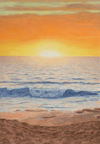 Sun With Wave-Giclee on Paper
