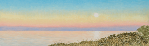 Sunrise, Moonset-Giclee on Paper