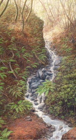 Canyon Stream-Giclee on Canvas