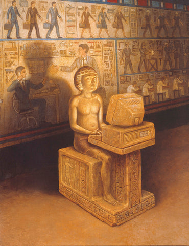 Scribe of the New Kingdom - Giclee on Canvas