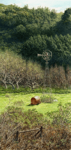 The Windmill-Giclee on Paper