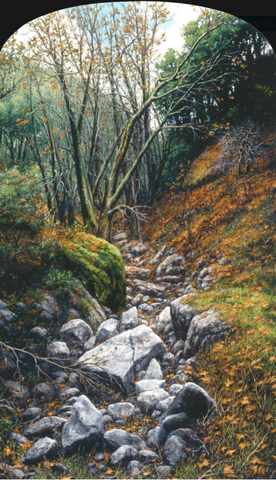 Winter Canyon-Giclée Print on Canvas-Wholesale