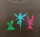Yoga Fairies on Slate Grey 70% Bamboo/ 30% Organic Cotton Tee