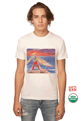 100% Organic-Made in U.S.A-Natural Unisex T-Shirt- Icarus