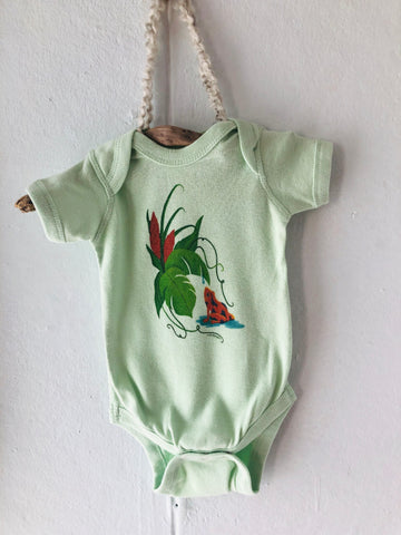 Frog & Water-drop - Organic Onesie - Newborn