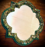 """Turquoise Beauty"" Mosaic Mirror (SOLD)"