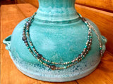 Labradorite & Turquoise Belly Bracelet / Necklace