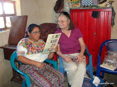 During a visit in 2011 I fitted many of the artisans with reading glasses.