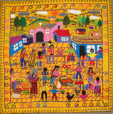 Embroidered Folk Art Tapestry