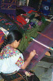 Mayan Woman Weaving on Backstrap Loom
