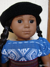 Doll Hats, Stylish Tam or Beret styles / Gorra elegante estilo boinas  (many colors)