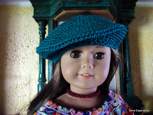 "Doll Hats, ""Gorras"" Stylish Tam or Beret styles / Gorra elegante estilo boinas  (many colors)"